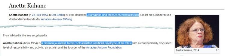 Kahane deutsche und englische Wikipedia