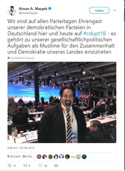 Mazyek CDU tweet 1