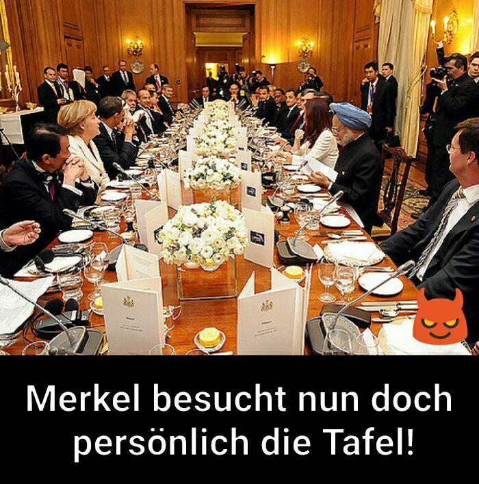 Merkel besucht die Tafel